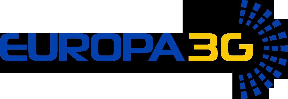 Este es el logo de Europa 3G en Barcelona